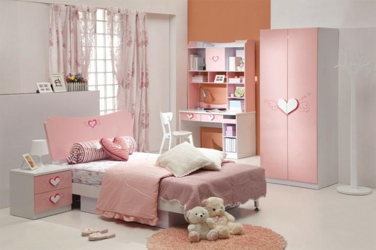 color rosa claro habitacion nina ideas