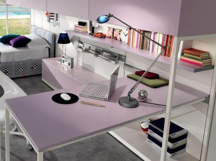 color rosa muebles dormitorio chica ideas