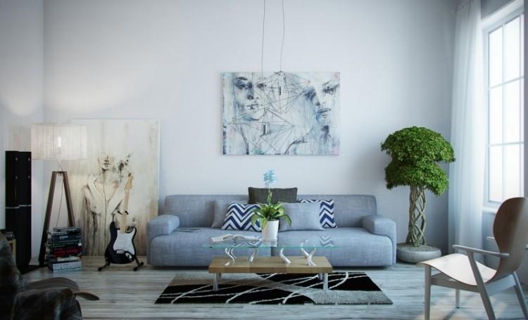 colores claros salon moderno mesa madera cristal ideas