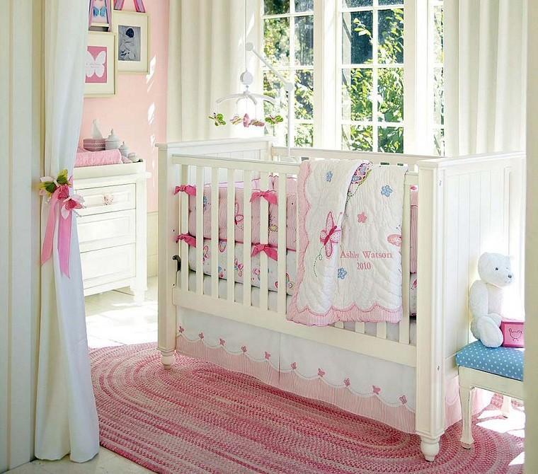 colores rosa cuna blanca madera ideas modernas