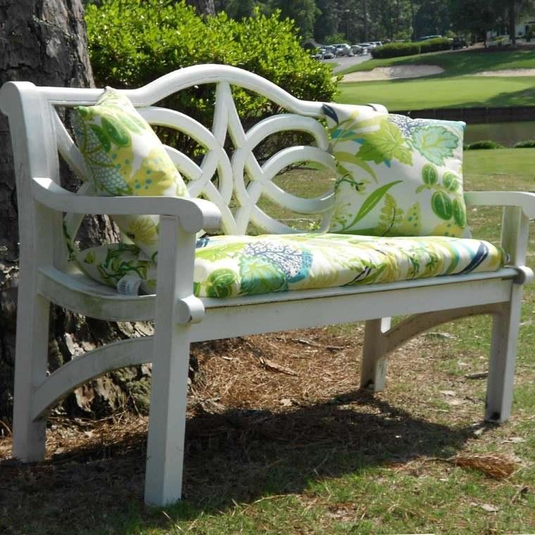 colorido verde veraniego blanco banco