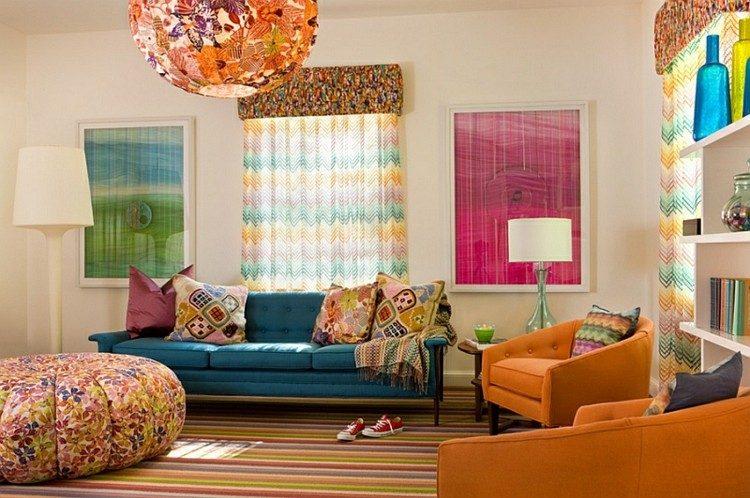 colorido vivo vibrante salon esfera