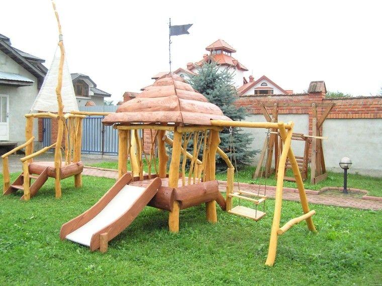 columpio fortaleza imitacion madera trobncos
