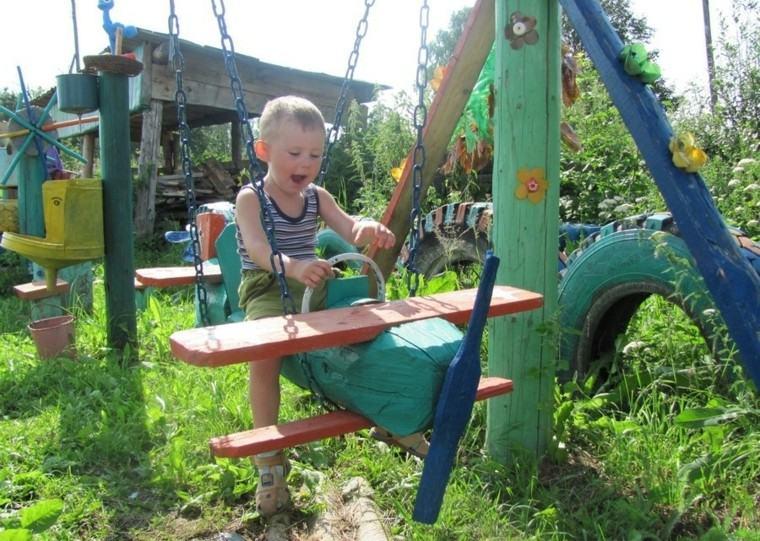 Parques infantiles en el jard n para un verano divertido - Columpios de madera para jardin ...