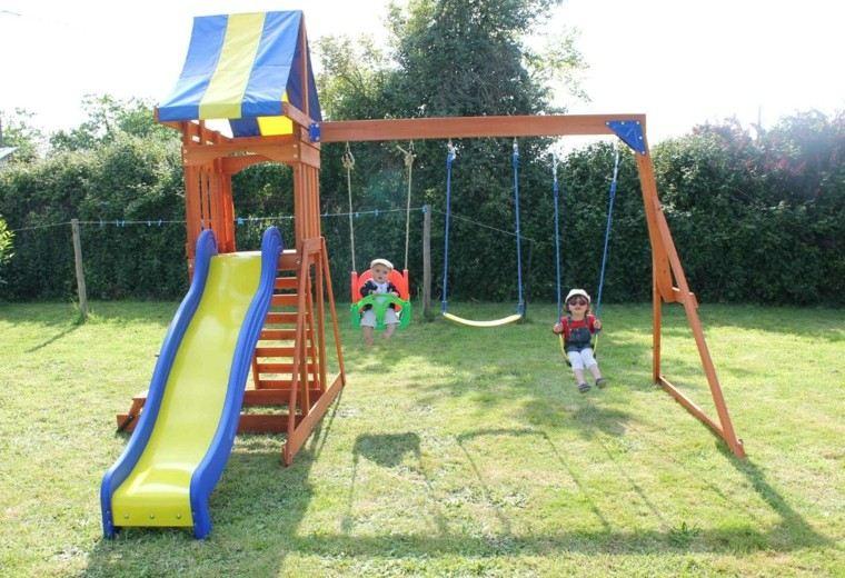 65019857a View in gallery columpio tobogan toldo colores azul Parques infantiles en  el ...