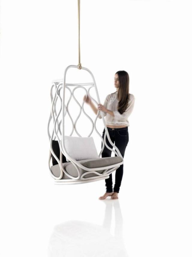 columpios sillas colgantes blancas modelo nautica