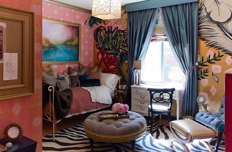 combinacion estilo clasico contemporaneo paredes pintadas ideas
