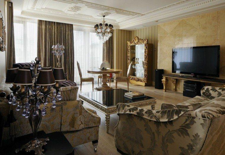 combinacion estilo moderno victoriano salon ideas
