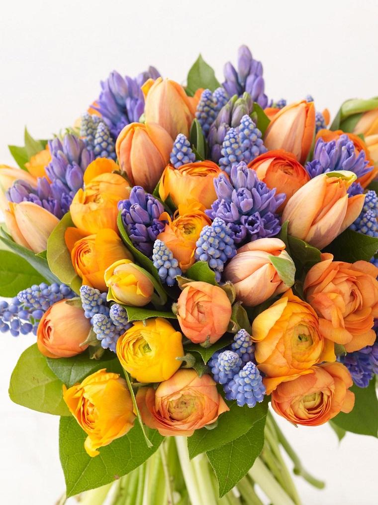 JUEVES 10 DE MARZO DE 2016 - Por favor pasen sus datos, pálpitos y comentarios de quiniela AQUÍ para hacerlo más ágil. Gracias.♣ Combinacion-naranja-purpura-ramo-flores