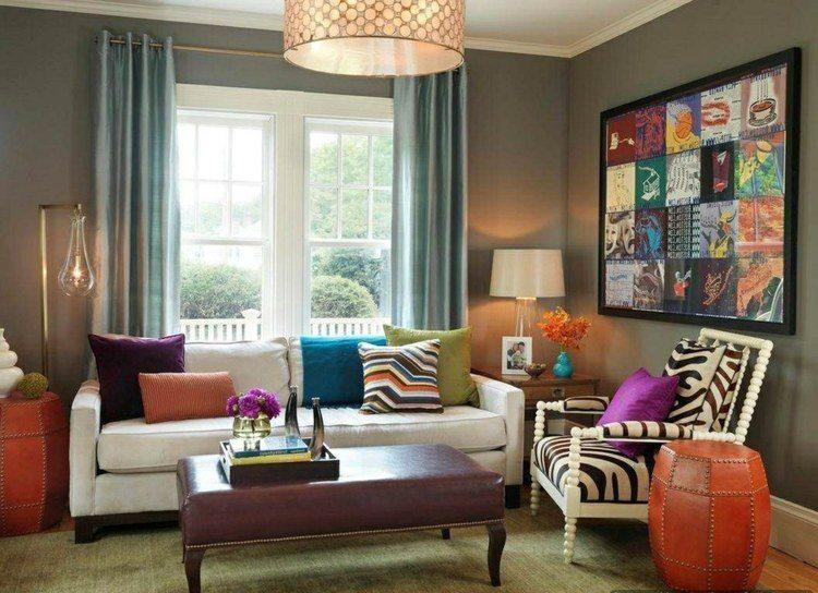 Combinar colores en el sal n redescubre tu espacio - Colores para el salon ...