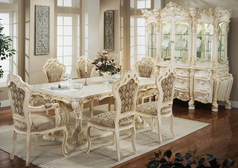 comedor estilo victoriano madera blanca muebles ideas