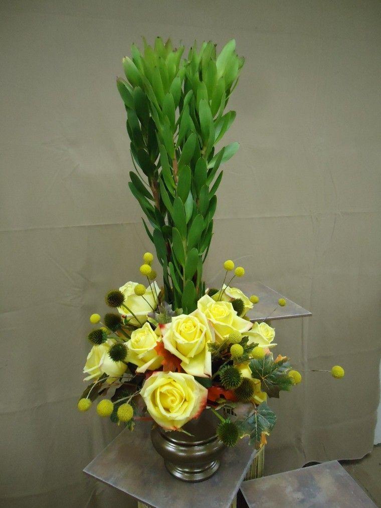 composiciones interesantes flores decorar casa ideas