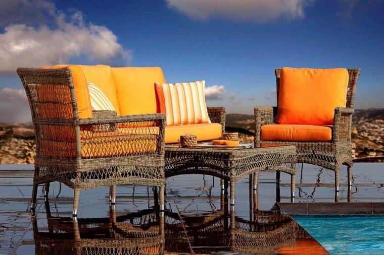 conjunto sillas mimbre classic rattan
