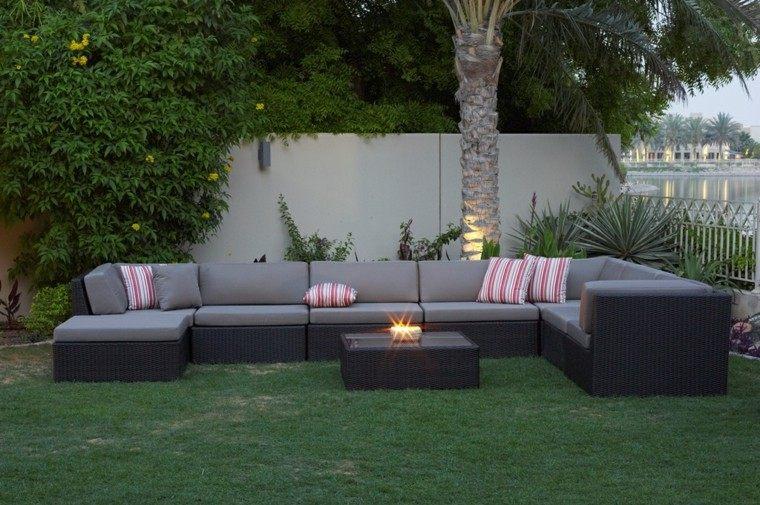 conjunto muebles terraza sofa rattan