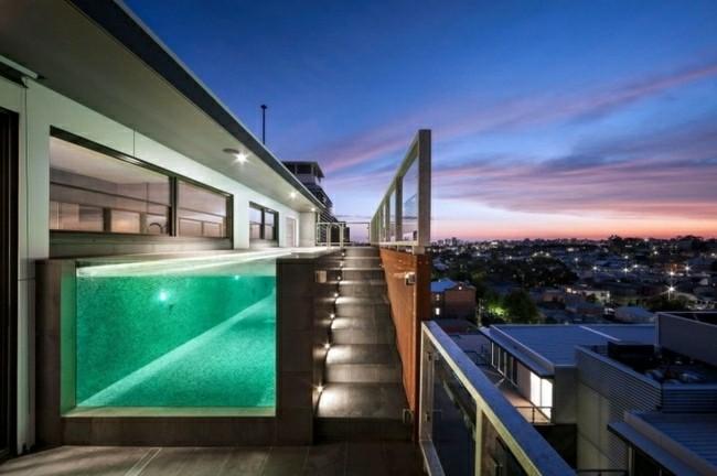 de piscinas terrazas escaleras with piscinas pequeas para terrazas