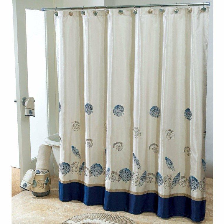 cortina bano preciosa caracoles ideas modernas