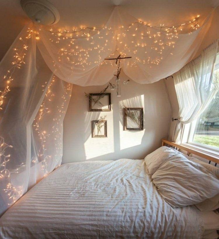 cortina mosquitra guirnalda luces navideñas