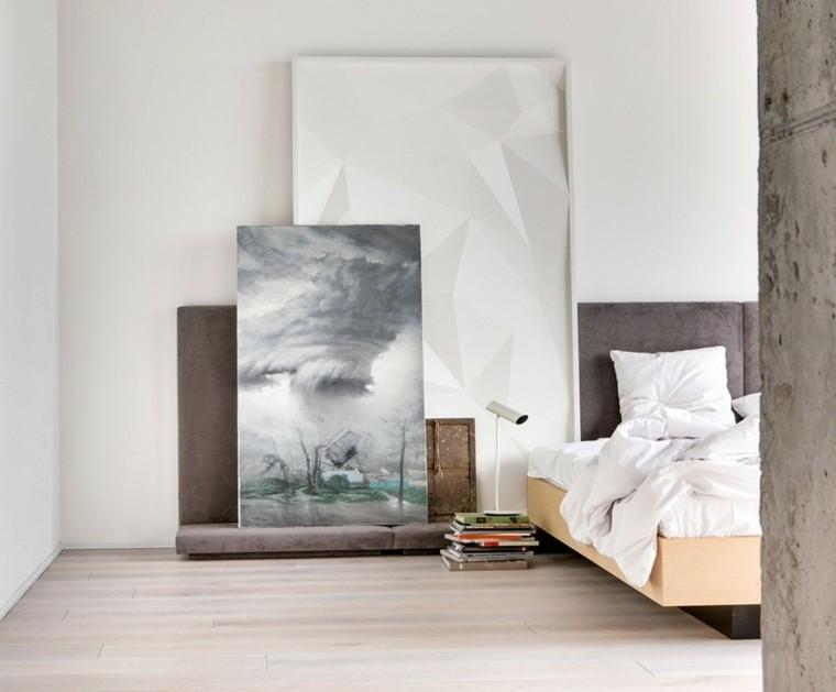 cuadro texturas paredes lampara columna