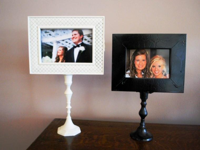 cuadros candelabros negro blanco soportes