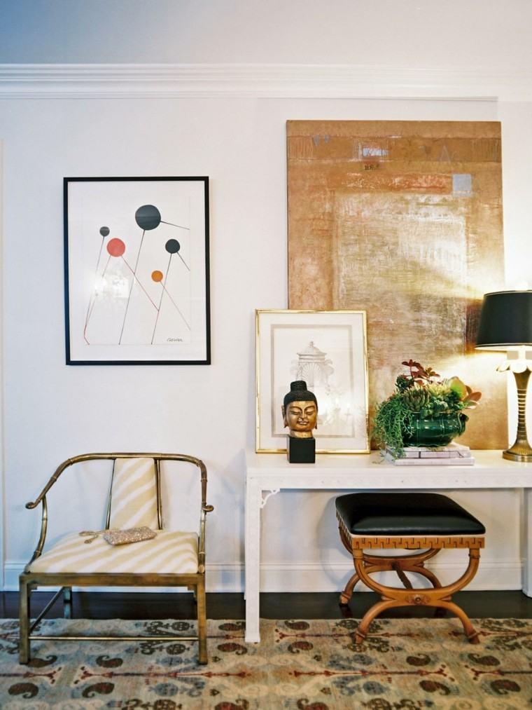 Decoraci n de interiores habitaci n moderna y original - Platos decorativos pared ...