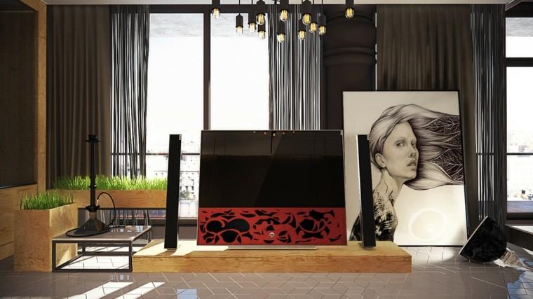 cuadros televisor moderna cuarto
