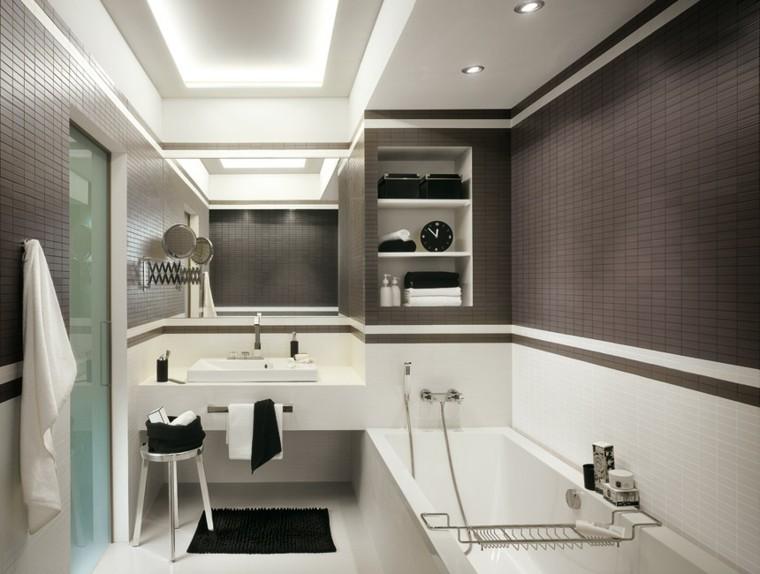 Azulejos para ba os modernos cien ideas geniales - Azulejos de cuarto de bano modernos ...
