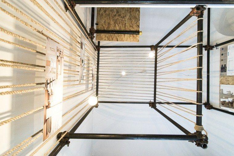 cuerdas colgantes estructura techo