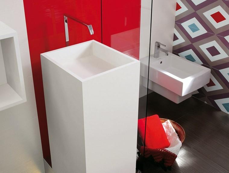 cupido lavabo rojo brillo lacado