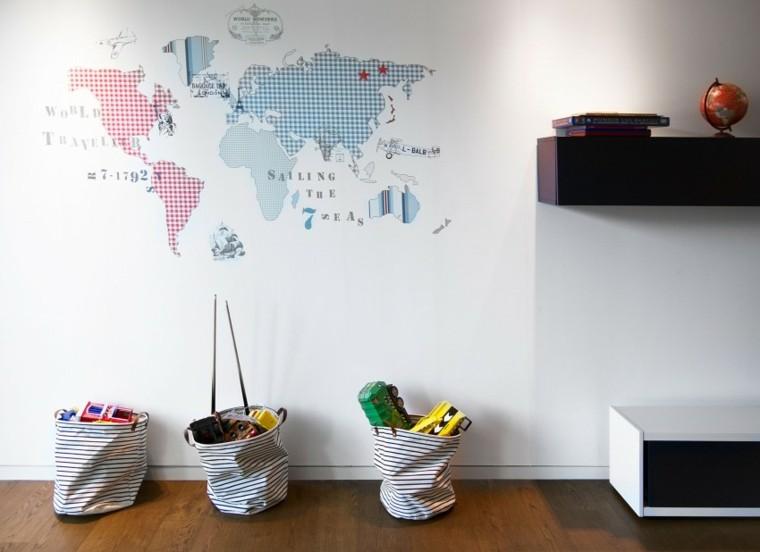 decoracion infantil mapa mundo
