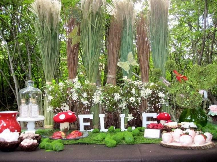 decoracion setas fiesta jardin