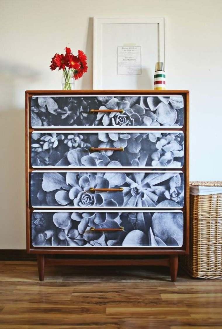 decoracion armario gabetas madera habitacion