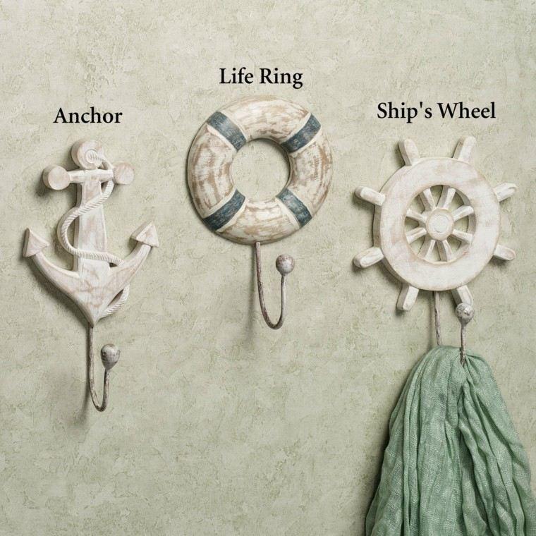 decoracion bano estilo marino colgar ropa ideas