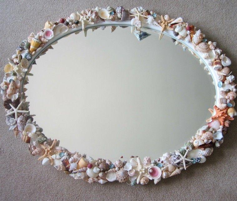 Decoraci n n utica 25 ideas para toda la casa for Ideas para hacer espejos decorativos