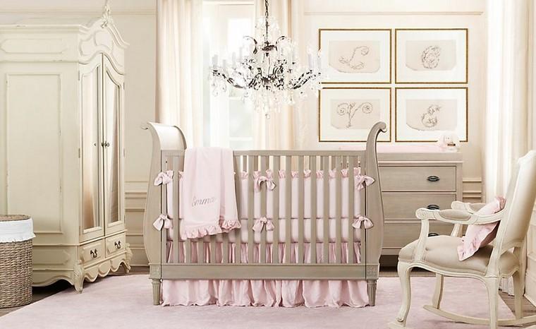 decoracion de bebe armario madera blanco moderna
