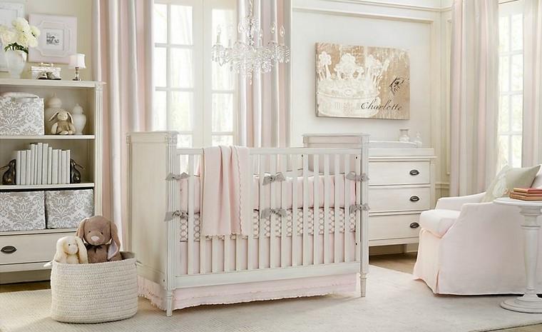 decoracin de bebe cuna blanca cortinas rosa ideas decoracion habitacion bebe nia with bebe nia decoracion