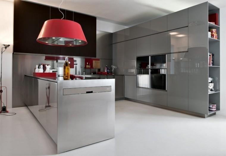 decoracion interiores cocinas acero muebles ideas
