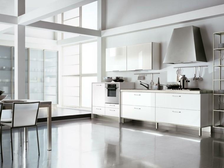 decoración interiores cocinas amplias luminosas ideas