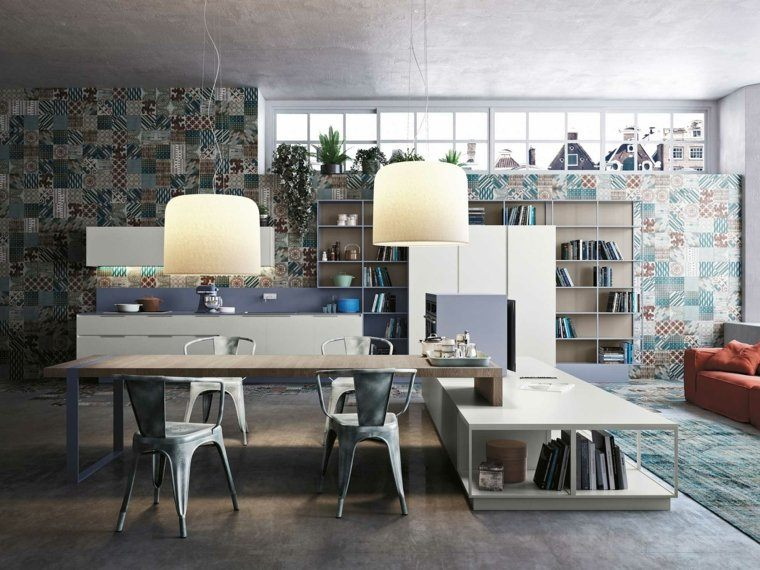 decoración de interiores cocinas azulejos colores ideas