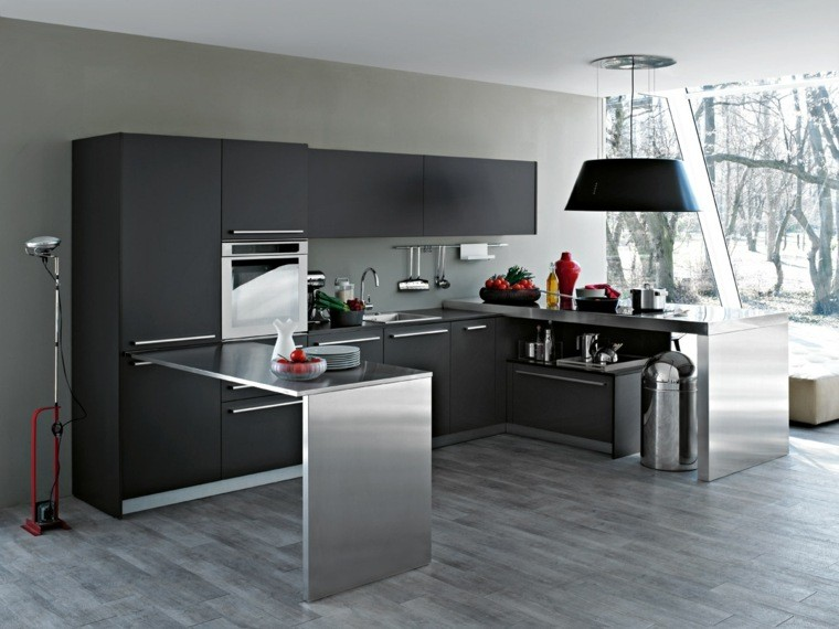 decoracin de interiores cocinas color negro muebles ideas
