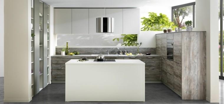 decoración de interiores cocinas isla pequena ideas