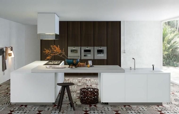 decoración interiores cocinas taburete madera ideas