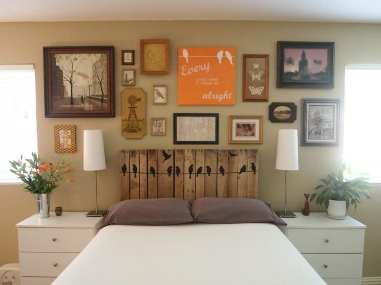 decoracin de interiores habitacin dormitorio cabecero cama ideas