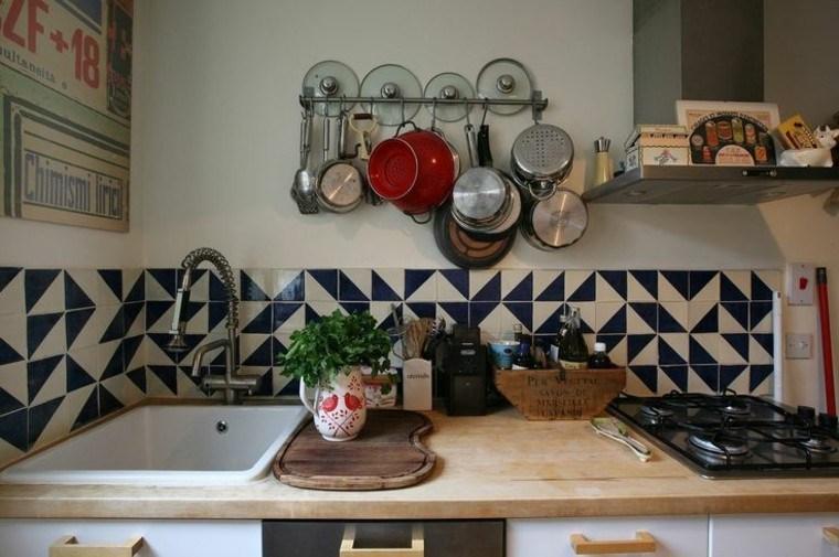 decoracion variante azulejos cocina azul