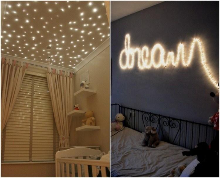 decorar dormitorios guirnaldas luces navidad