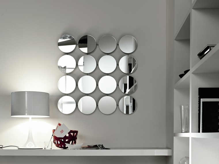 detalle espejos interesante circular gris