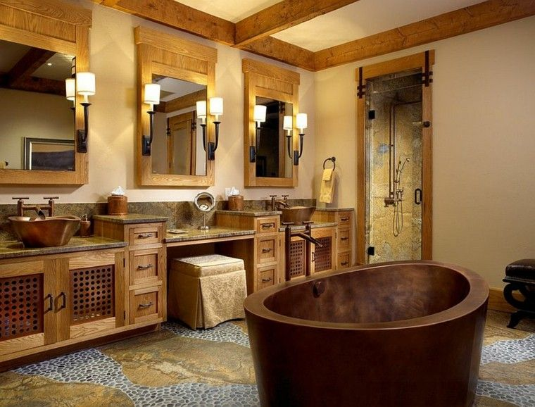 Dise o ba os rusticos y creatividad m s de 50 ideas for Badezimmer japan