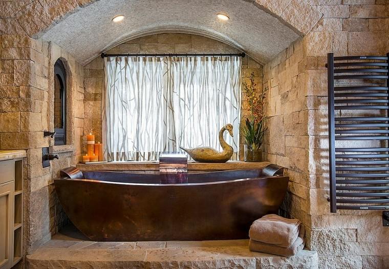 Baños rusticos romanticos ~ dikidu.com