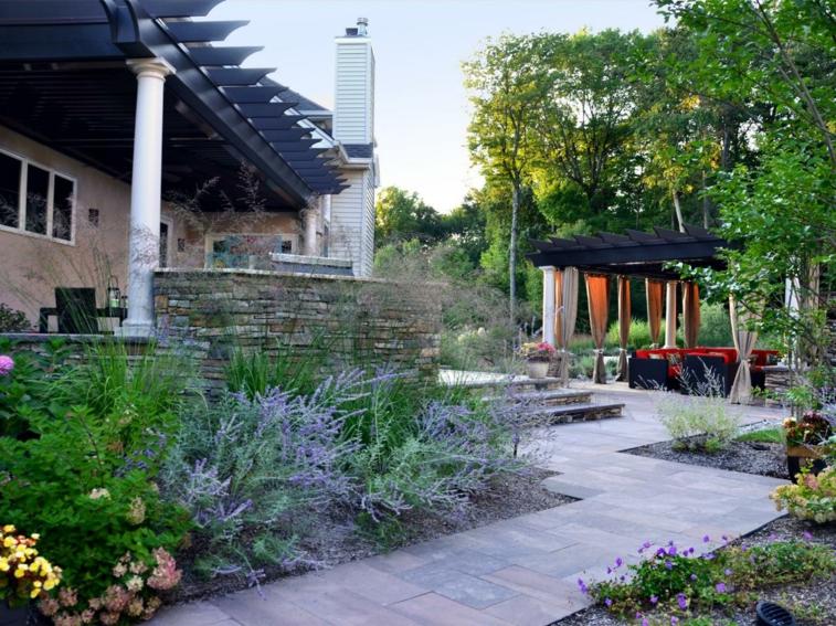 diseño camino recorrido jardin escaleras