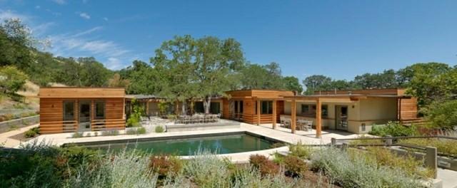 diseño casas madera pino piscina