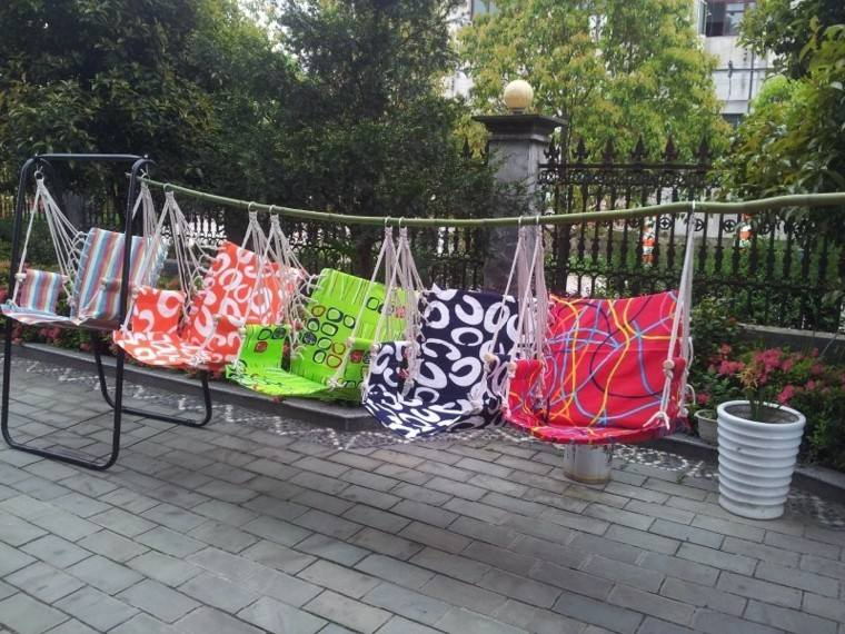 diseño casero sillones colgantes palo